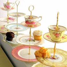 Tiered Tea and Cupcake Stands