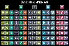 Game skills icons by cruizRF on Creative Market