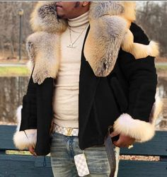 Black Khakis, Suede Material, Color Khaki, Fur Collars, Fur Coat, Winter Jackets, Long Sleeve, Casual, Suede Leather