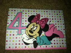Mickey and Friends Cricut birthday card