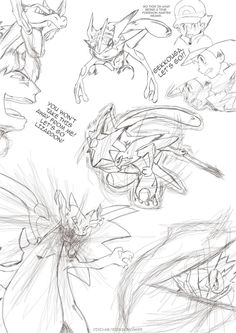 Ash Ketchum and his Greninja vs. Alain and his Mega Charizard X ♡ I give good credit to whoever made this