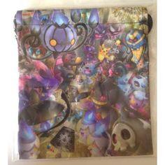 Pokemon Center 2013 Halloween Chandelure Mismagius Lampent Banette Duskull & Friends Medium Size Drawstring Dice Bag