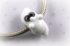 Friendly Halloween Ghost Large Hole Bead (1)