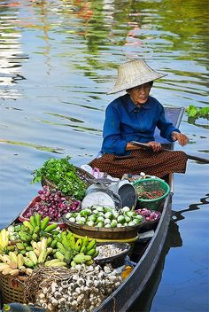 Thailand..... I must shop at one of the floating river markets!