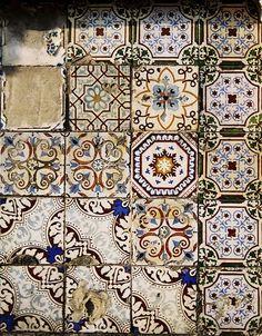 Tiles. Colours.