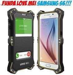 Fundas Samsung S6 marca Love Mei metal aluminio resistente anti golpes.