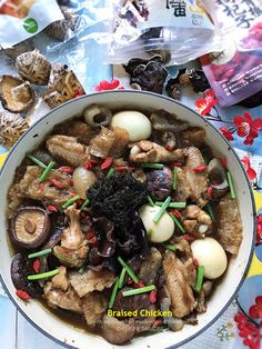 Cuisine Paradise | Singapore Food Blog | Recipes, Reviews And Travel: [recipe] Braised Chicken - 海参香菇焖鸡翅
