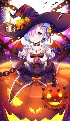 Rem (Re:Zero) - Re:Zero Kara Hajimeru Isekai Seikatsu - Mobile Wallpaper - Zerochan Anime Image Board Anime Halloween, Fete Halloween, Happy Halloween, Kawaii Halloween, Halloween 2019, Halloween Costumes, Anime Sexy, Manga Sexy, Anime Chibi