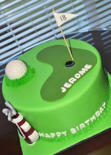 Golf Cake, use small gumball