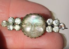 "Victorian ""man in the moon"" moonstone cameo"