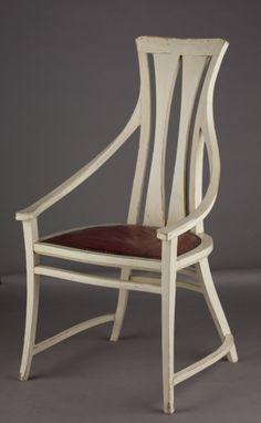 Peter Behrens, Stuhl mit Armlehnen, entworfen für das Haus Behrens