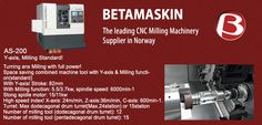 The leading CNC Milling #Machinery & machine #tools Supplier in #Norway..!