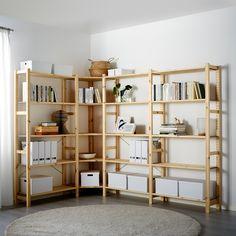 Ivar Regal, Front Closet, Corner Shelves, Wooden Shelves, Ikea Ivar Shelves, Affordable Furniture, New Room, Home Furnishings, Shelving