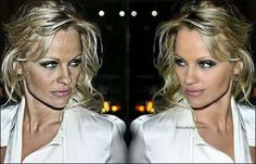 Before and after photoshop - Pam Anderson