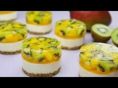No-Bake / No-Egg / Měření šálku / Jednoduchý ovocný recept na mini tvarohový koláč - YouTube Mini Cheesecake Recipes, Cheesecake Cupcakes, Mini Desserts, No Bake Pies, No Bake Cake, Mini Cakes, Cupcake Cakes, Mini Tortillas, Muffin Tin Recipes