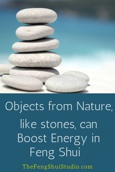 To boost energy in your home, integrate Objects from Nature into your decor.  #fengshui #fengshuihome #fengshuidecor #decor #homedecor #fengshuienergyboost #fengshuitips #nature #naturetreasures #rocks #crystals #driftwood #shells