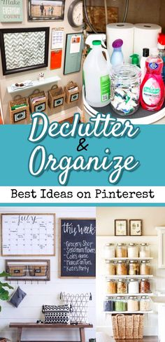 Declutter  and Organize / Best Ideas on Pinterest - decluttering and organizing ideas our favorite pins we've found on pinterest - Best Pinterest board full of helpful organization tips to delutter your life #clutterfreekitchen