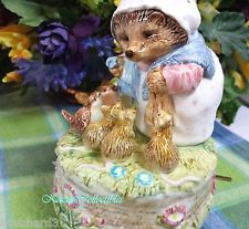 Beatrix Potter Mrs Tiggy Winkle Hedgehog Musical with rabbits and birds