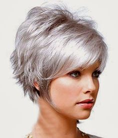 New Cute Short Haircuts. The world of hairstyling will never be complete without those cute short haircuts to embellish it. Grey Hair Styles For Women, Hair Styles 2014, Wig Styles, Curly Hair Styles, Haircut Styles, Mullet Haircut, Cute Short Haircuts, Cute Hairstyles For Short Hair, Wig Hairstyles
