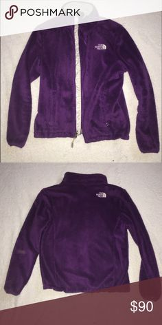 WOMENS NORTH FACE JACKET Purple, fuzzy, fleece north face jacket. Worn a few times. Looks and feels like new. Has pockets and zipper down the whole front. Please ask questions and leave a comment😚 North Face Jackets & Coats