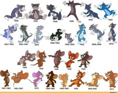 Tom and Jerry evolution funny cartoons pictures Tom And Jerry Funny, Tom Und Jerry, Tom And Jerry Cartoon, Old Tom And Jerry, Old Cartoons, Classic Cartoons, Funny Cartoons, Cartoon Memes, Cartoon Shows