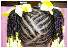 african american toddler girl hairstyle braided to an afro poof - Google Search