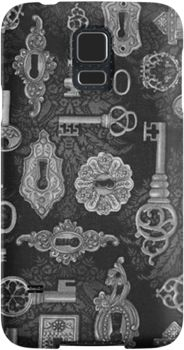 Steampunk Silver Keys and Key Holes Pattern  | Snap Cases, Tough Cases, & Skins for iPhones 4s/4 5c/5s/5 6Plus & Samsung S3/S4/S5 Galaxy Phones. **All designs available for all models.