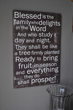 Psalm 1 20x30 GALLERY WRAP CANVAS by redletterwords on Etsy, $150.00