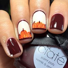 Cute Pumpkins Nail Art picture 1