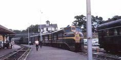 Train at station. 1954.