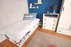 O quarto de solteiro é aquele cômodo onde o morador pode se expressar e colocar seu estilo na decor. Aposte em móveis funcionais para economizar espaço.