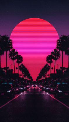Glitch Wallpaper, City Wallpaper, Iphone Background Wallpaper, Retro Wallpaper, Scenery Wallpaper, Pink Neon Wallpaper, Good Vibes Wallpaper, Best Wallpaper Hd, Aesthetic Backgrounds