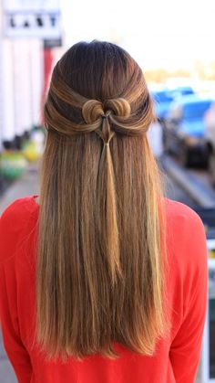 Hairstyles For Girls Halfup Bow Combo  Cute Girls Hairstyles  Cute Girls Hairstyles