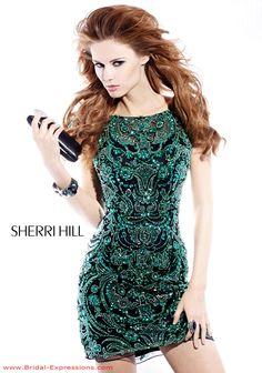 Sherri Hill emerald green dress