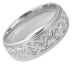 Hand-Engraved Celtic Weave Ring