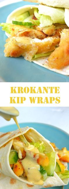 Krokante kip wraps