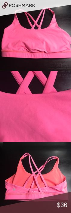 Lululemon athletica pink racerback sports bra Lululemon athletica pink racerback sports bra Size 12 Gently worn, no flaws  Thank you for checking out my closet💫 lululemon athletica Tops