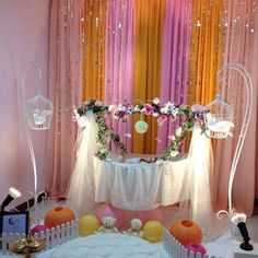 Struggling for ideas for the baby naming ceremony decoration? Remarkable cradle ceremony decoration & themes to make your little one's day memorable. Name Decorations, Home Wedding Decorations, Balloon Decorations, Birthday Decorations, Baby Shower Decorations, Naming Ceremony Decoration, Ceremony Decorations, Cradle Decoration, Flower Decoration