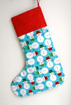 Christmas Stocking - Snowmen