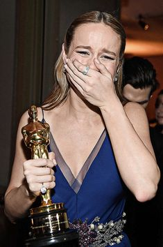 """delevingned:"""" Brie Larson winner of Best Actress for 'Room,' backstage at the Annual Academy Awards at Dolby Theatre on February 2016 in Hollywood, California. Brie Larson, My Future Job, Photo Star, Oscar Winners, Marvel Actors, Film Aesthetic, Marvel Cinematic Universe, Dream Life, Dream Job"""