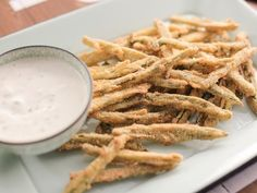 Jalapeno Fries with Roasted Garlic Ranch Recipe | Valerie Bertinelli | Food Network