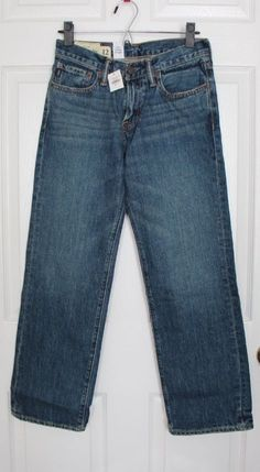 "BRAND NEW Abercrombie Kids Blue Jeans Boys 12 Horton Classic Straight 28 x 27.5"" #AbercrombieFitch #ClassicStraightLeg #Everyday"