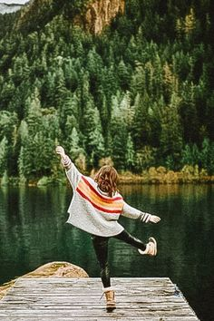 CreativePreset shared a new photo on Etsy Mountain Pictures, Forest Pictures, Granola Girl, Cute Poses For Pictures, Portrait Pictures, Montage Photo, How To Pose, Photo Poses, Photography Poses