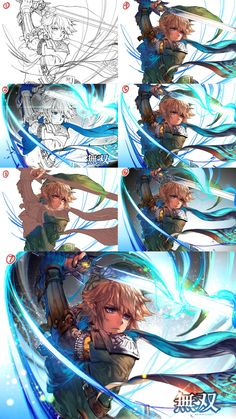 Hyrule warriors step by step by kawacy on DeviantArt