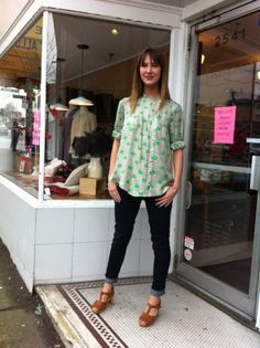 It's the shoes I want, but the top is cute, too. From Much and Little, in my neighbourhood.