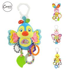Cartoon Bird Baby Bed Stroller Hanging Rattles Newborn Mobile Rabbit Teether Appease Plush Toy With BB Bell Paper Rubber Rings(China) Pet Toys, Baby Toys, Bell Paper, Sensory Blocks, Baby Stuffed Animals, Cartoon Birds, Baby Rattle, Toddler Toys, Baby Shower Gifts