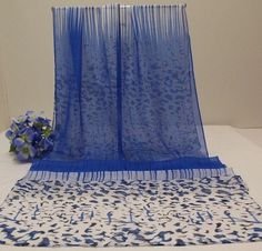 """Scarf Shawl Wrap Scarf  62"""" Stripes & Confetti-Modern Animal Print Design #NotBanded #Long62Inches #All"""