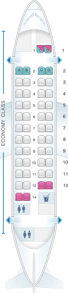 Seat Map Fiji Airways ATR 42 600