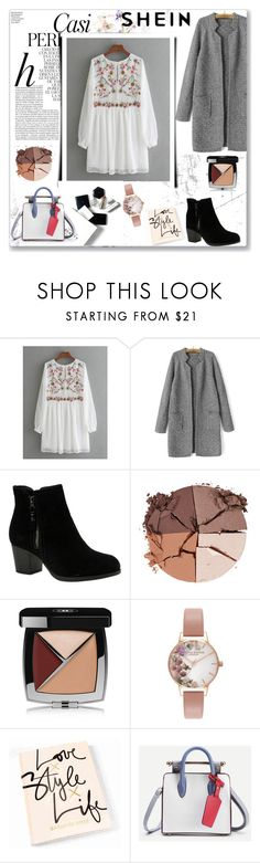 """White n' grey"" by musicajla ❤ liked on Polyvore featuring Whiteley, Skechers, lilah b., Chanel, Olivia Burton and H&M"