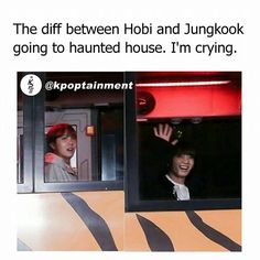 the difference between the hyung line and the maknae line in general when it comes to scary things is the funniest thing ever lmao